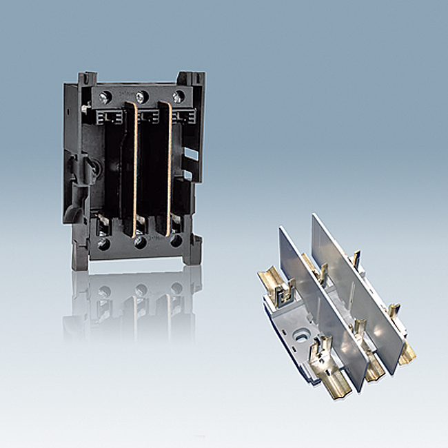 NH Fuse-Bases 690 V AC, 3-pole, for baseplate and supporting-rail mounting acc. to VDE 0636 T201 / IEC 60269-2-1