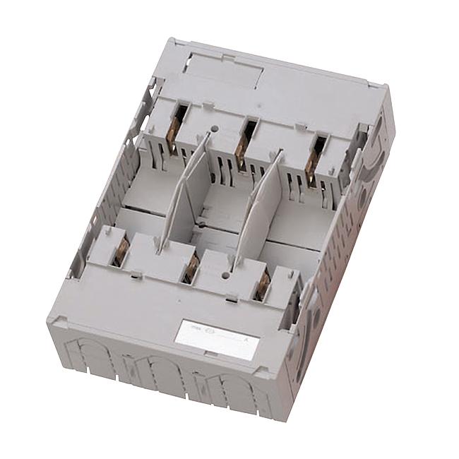 NH-Sicherungs-Unterteile, Baureihe SILAS, 3-polig für Sammelschienenmontage auf 60 mm Systemen mit Hakenkontaktierung