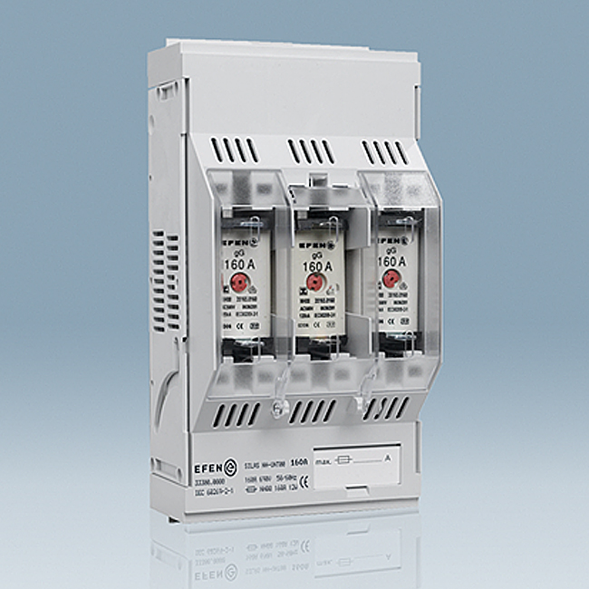 NH Fuse-Bases 690 V AC, 3-pole, for baseplate and busbar mounting, SILAS series
