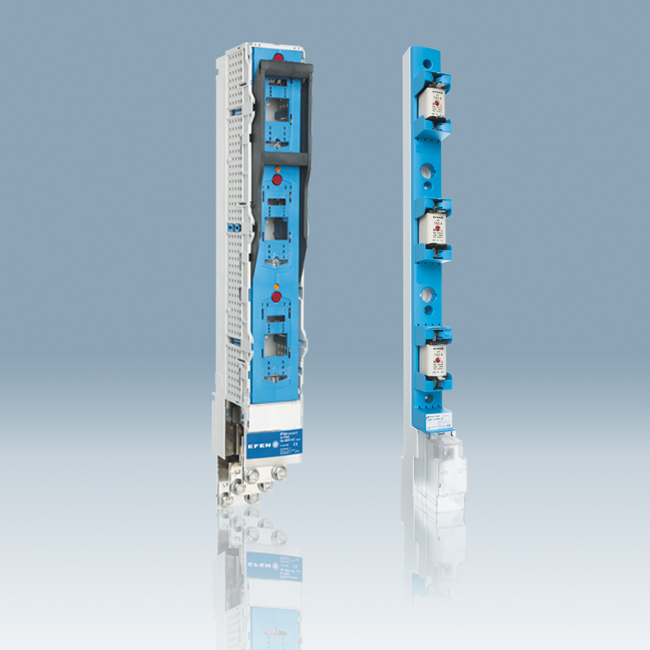 NH Fuse-Switches, vertical design and Fuse-Rails