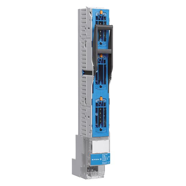 E³-NH-Sicherungs-Lastschaltleisten Größe 00/100, 3-polig schaltbar, 160 A, für 100 mm Sammelschienensysteme
