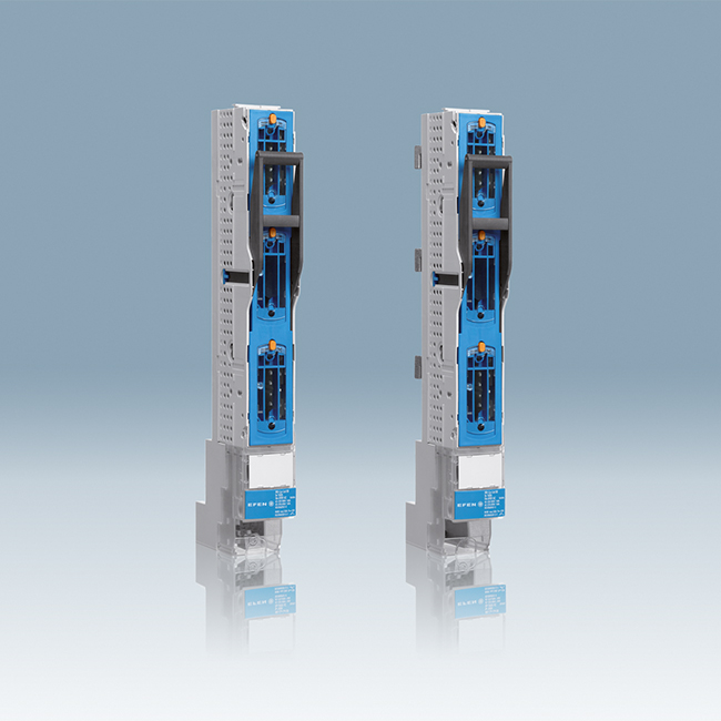 E³ NH Fuse-Switches, vertical design, 3-pole switching for 60 mm and 100 mm systems
