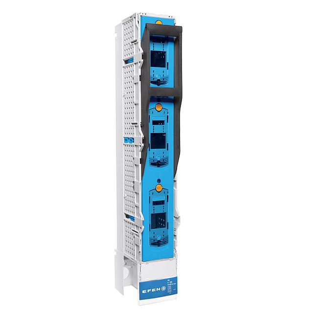 E³-NH-Sicherungs-Lastschaltleisten Größe 1-3, 3-polig schaltbar, als Koppelleiste zum Verbinden von 2 Sammelschienensystemen
