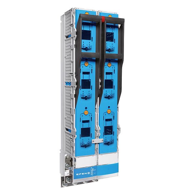 E³-NH-Sicherungs-Lastschaltleiste Größe 3, 3-polig schaltbar im Parallelbetrieb als Zwillingsleiste