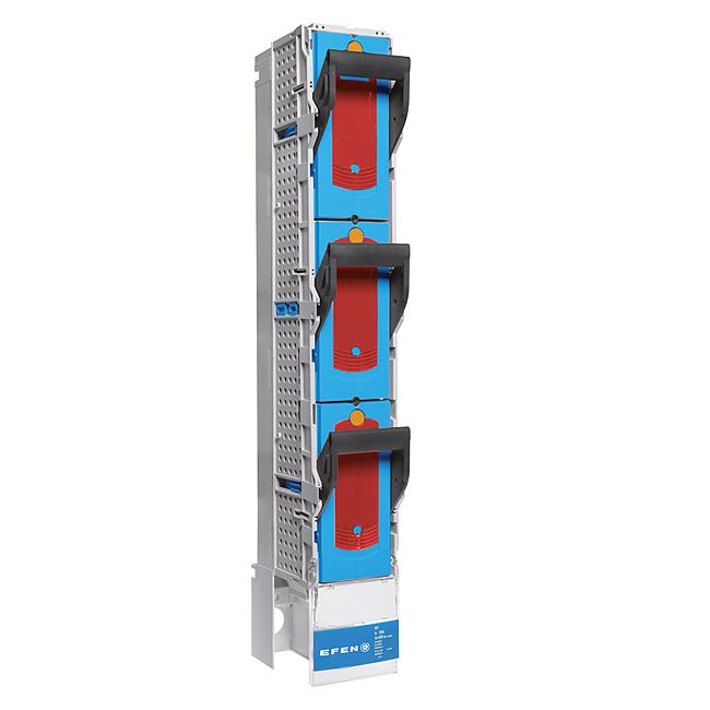 E³-NH-Sicherungs-Trennleiste zum Verbinden von 2 Sammelschienensystemen, 3-polig mit fest eingebautem Trennmesser 1000 A