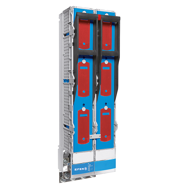 E³-NH-Sicherungs-Lasttrennleisten, Größe 3, 3-polig schaltbar mit fest eingebautem Trennmesser 1000 A für 2000 A