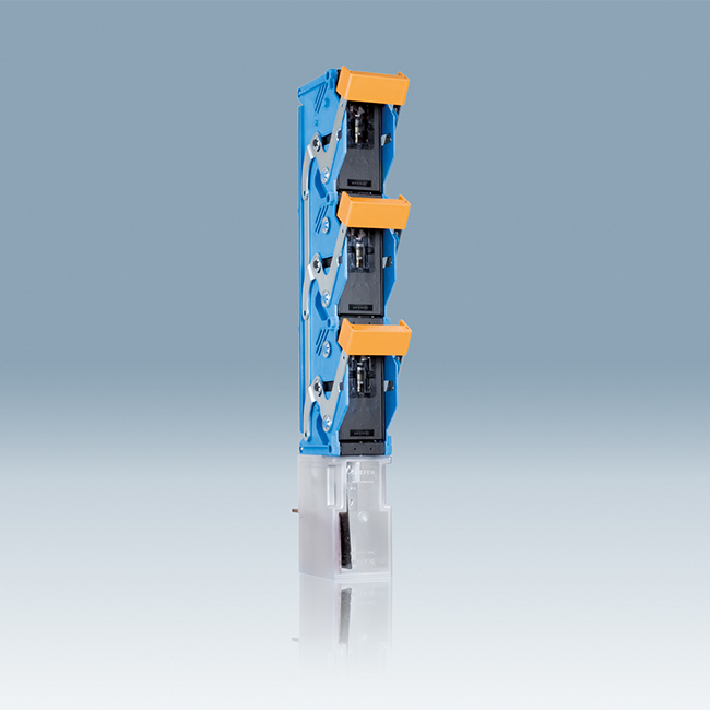 NH Fuse-Switches, vertical design, 3-pole switching for 185 mm busbar systems