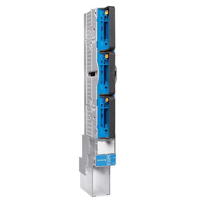 E³-NH-Sicherungs-Lastschaltleisten Größe 00/100, 1-polig schaltbar, 160 A, für 100 mm Sammelschienensysteme