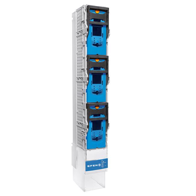 E³-NH-Sicherungs-Lastschaltleisten Größe 1-3, 1-polig schaltbar, mit versenkbarem Griff