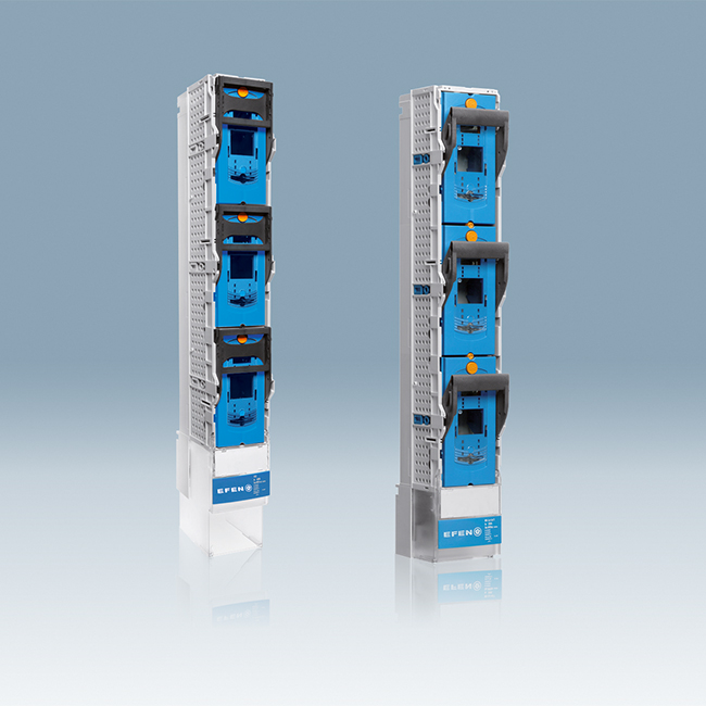 E³ NH Fuse-Switches, vertical design, 1-pole switching, for 185 mm busbar systems