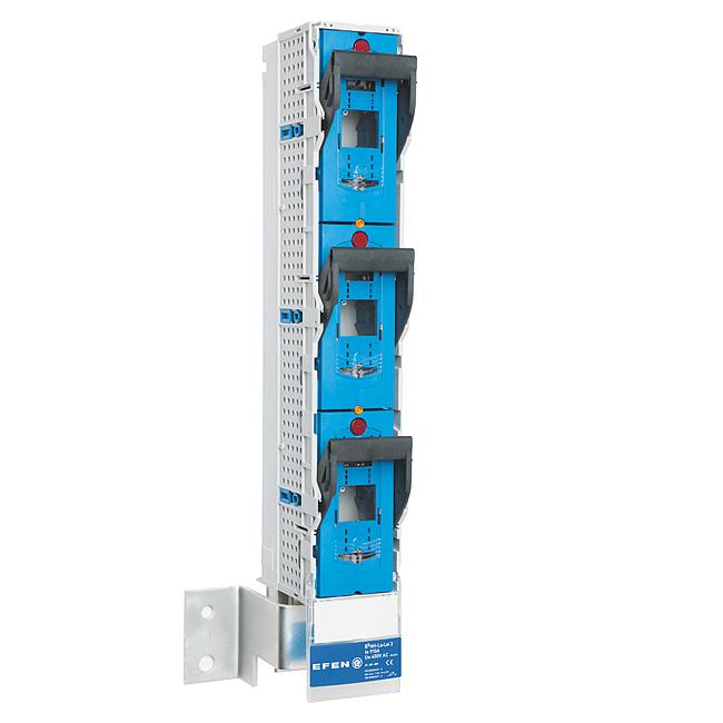 E³-NH-Sicherungs-Lastschaltleisten Größe 3, 1-polig schaltbar für 185 mm Sammelschienensysteme, 910 A