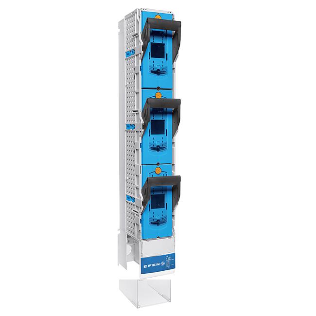 E³-NH-Sicherungs-Lastschaltleiste Größe 1- 3, 1-polig schaltbar, mit speziellen Abgängen