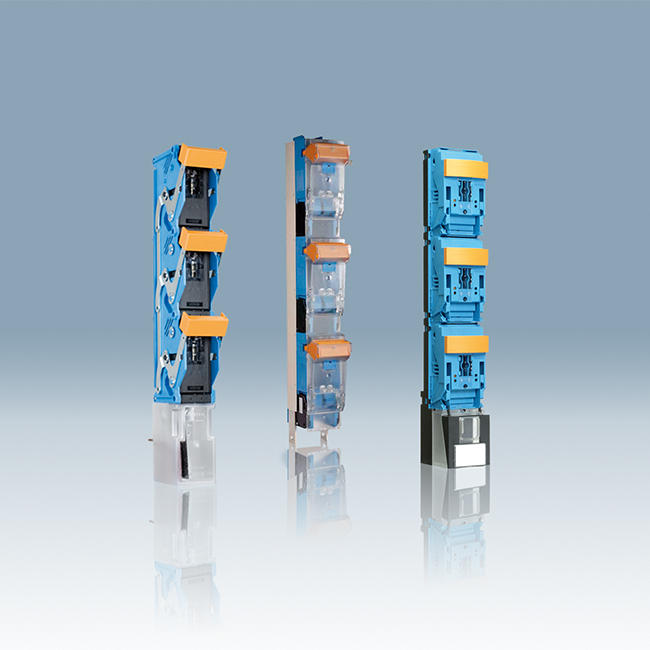 NH Fuse-Switches, vertical design, 1-pole switching, for 185 mm busbar systems