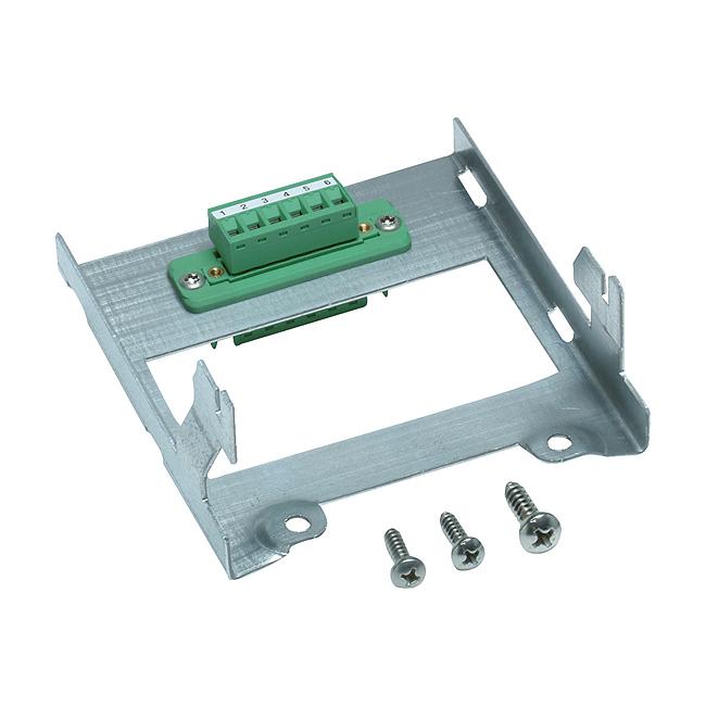 Geräteträger tief mit Steckverbindung 6-polig