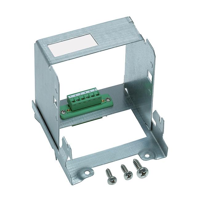 Geräteträger mit DIN-Halterung und Steckverbindung 6-polig