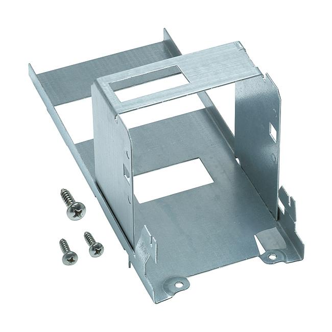 Geräteträger mit DIN-Halterung und Aufnahme Trennklemmen