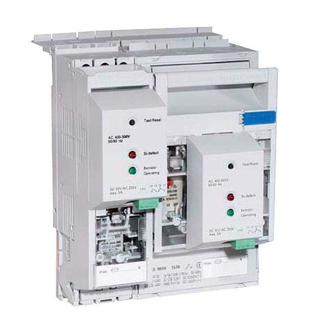 NH-Reiter-Sicherungs-Lasttrenner 690 V AC für 40/12 mm Schienensysteme, Einbautiefe 70 mm, Steckkontaktierung