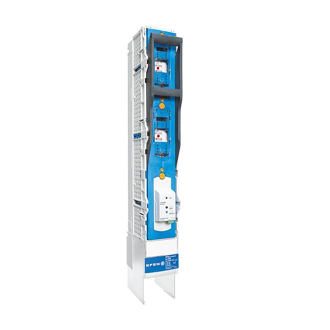 E³-NH-Sicherungs-Lastschaltleisten Größe 1-3, 3-polig schaltbar für 185 mm Sammelschienenabstand mit elektronischer Sicherungsüberwachung