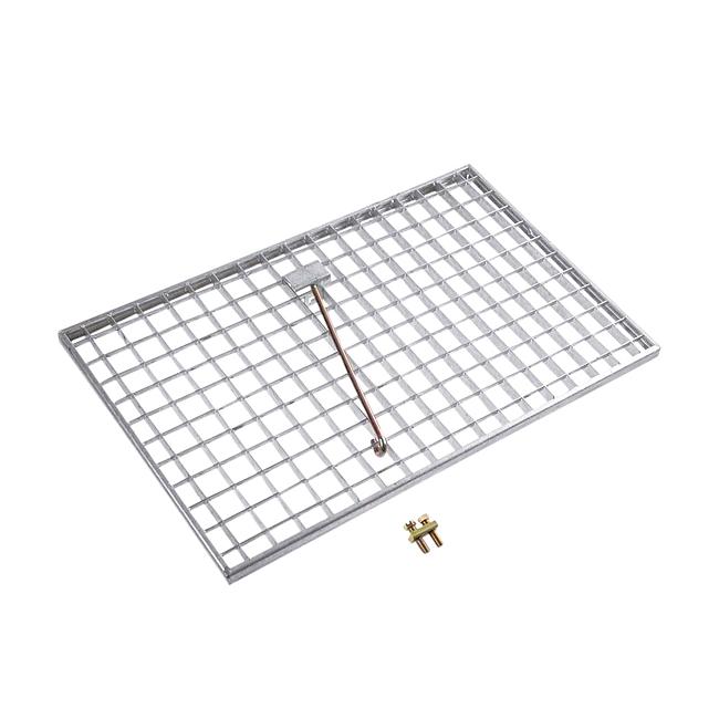 Steel floor grid