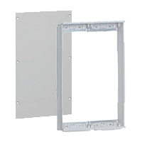 Mounting panels for distribution pillars